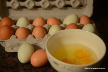 Fresh eggs from our ladies