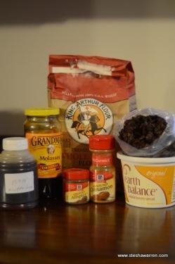 Raisin square ingredients